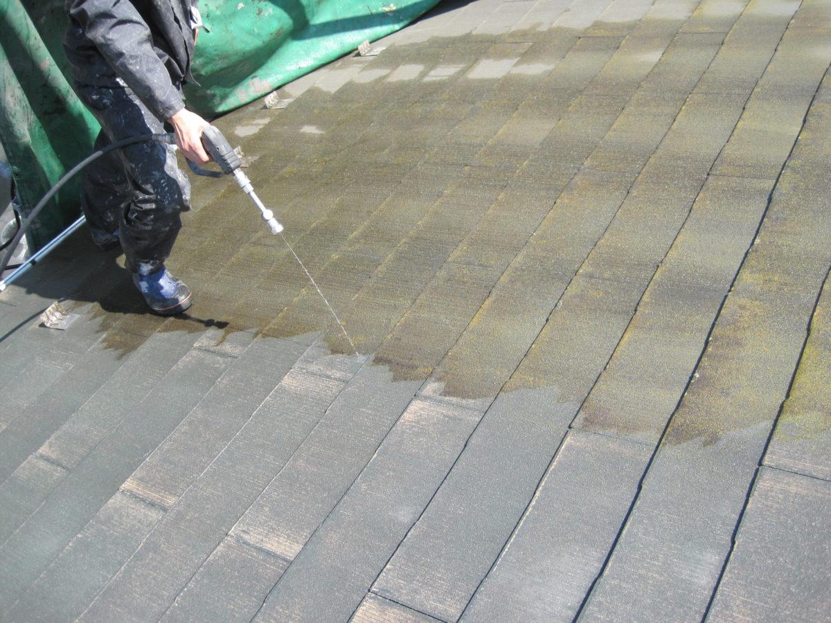 既存屋根高圧洗浄の画像